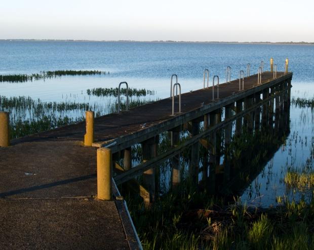 Jetty, Yacht Club, Lake Colac, Victoria, Australia