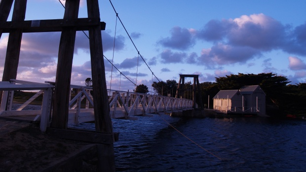 Old Swing Bridge, Lorne, Great Ocean Road, Victoria, Australia